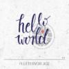Plotterdatei / Plottervorlage Hello world - mit Globus