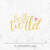 Plotterdatei / Plottervorlage Hello world - mit Herz