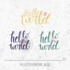Plotterdatei / Plottervorlage Hello world - mit Globus und Herz