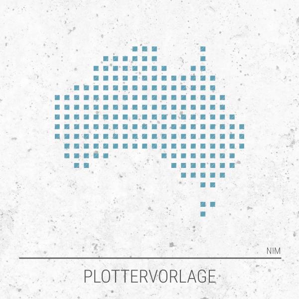 Plotterdatei / Plottervorlage Australien in Pixeln