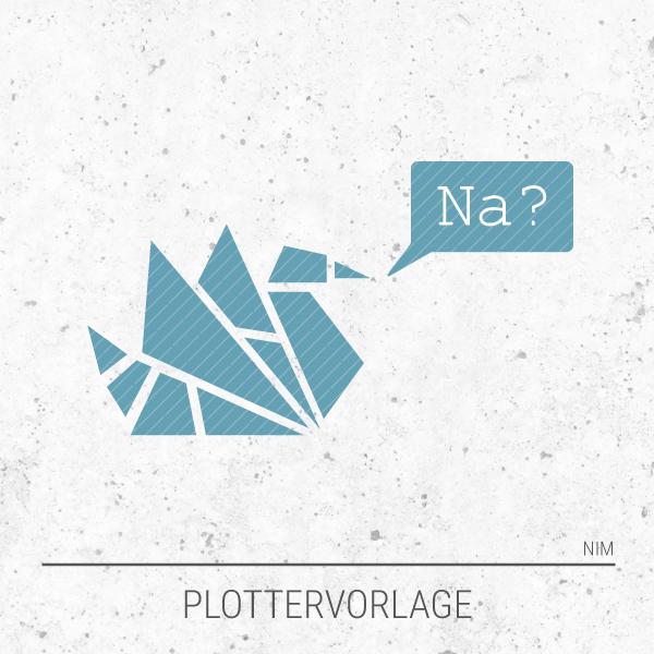 Plotterdatei / Plottervorlage Geometrische Tiere - Schwan Stefan fragt Na?