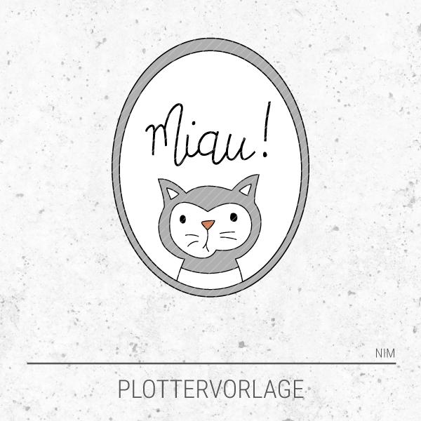 Plotterdatei / Plottervorlage Miau! - Kater / Katze im Spiegel