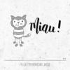 Plotterdatei / Plottervorlage Miau! - Kater / Katze mit Pfoten