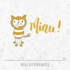 Stickdatei Miau! - Kater / Katze mit Pfoten