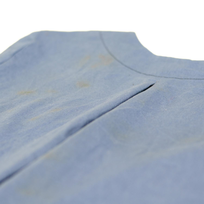 Blusenkleid mit Rückenfalte und Beleg nähen, Schnittmuster Irenes Kleid von Lotte & Ludwig
