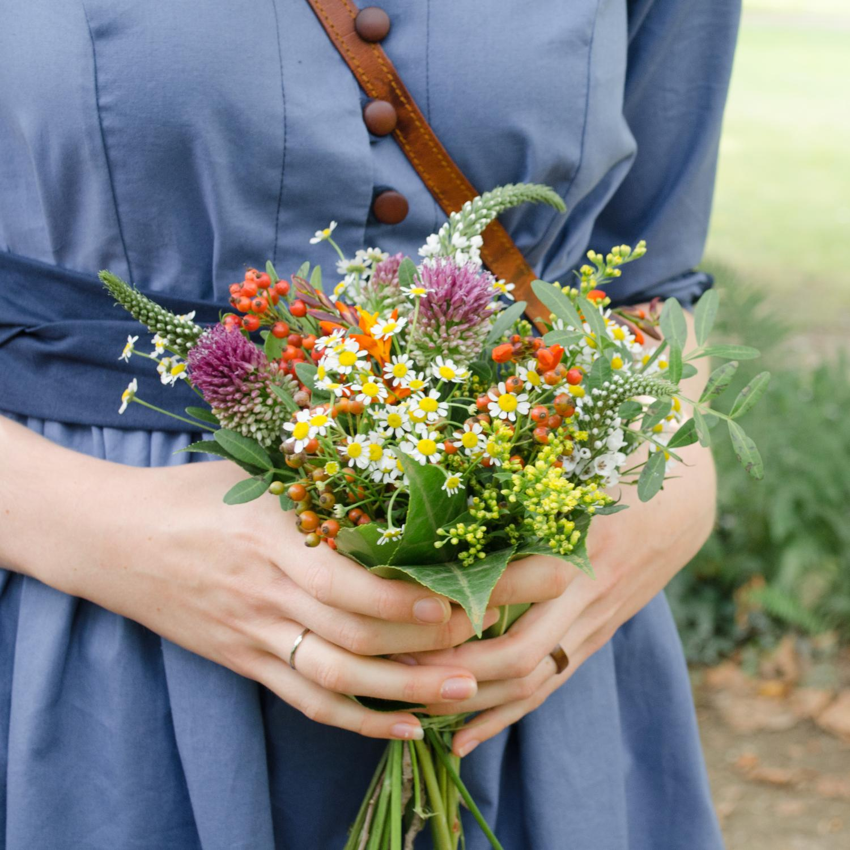Blusenkleid mit Knopfleiste nähen, Schnittmuster Irenes Kleid von Lotte & Ludwig