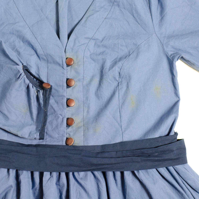 Blusenkleid mit Schleifenband aus Webware nähen, Schnittmuster Irenes Kleid von Lotte & Ludwig