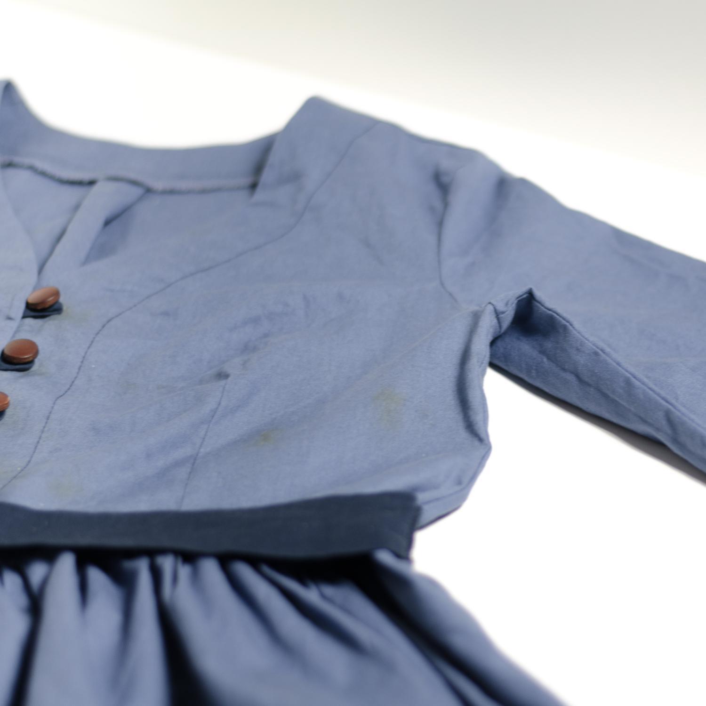 Retro-Blusenkleid mit Schleifenband aus Webware nähen, Schnittmuster Irenes Kleid von Lotte & Ludwig