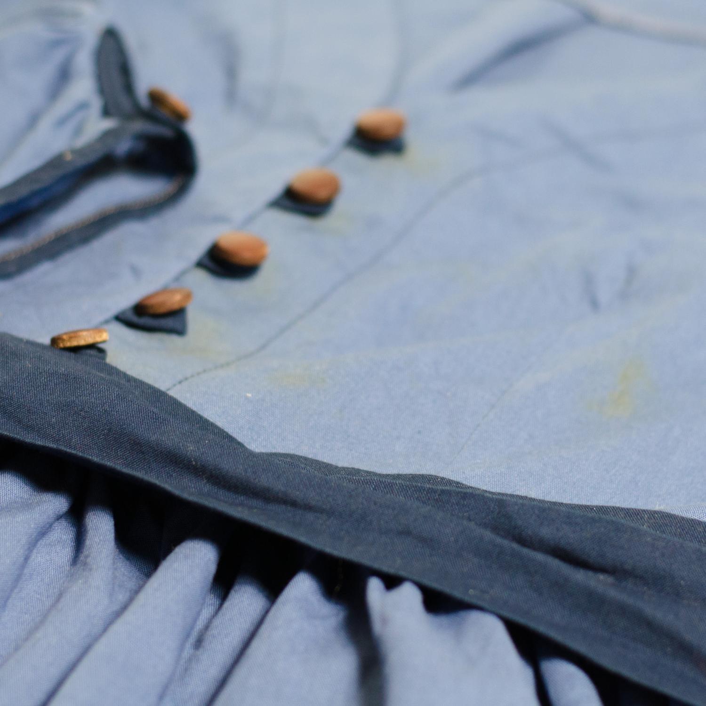 Blusenkleid mit Knopfleiste und Schleifenband nähen, Schnittmuster Irenes Kleid von Lotte & Ludwig