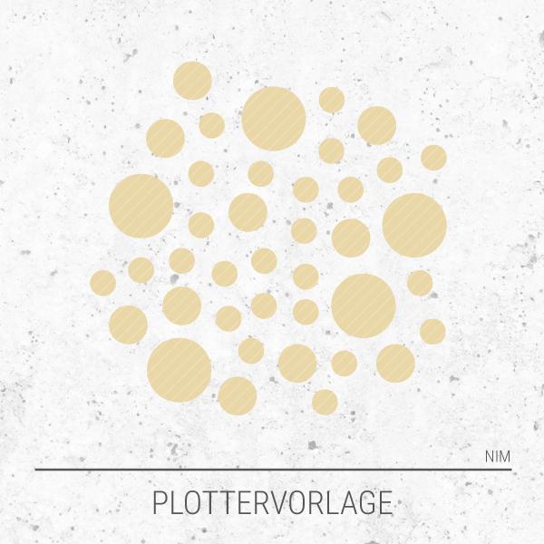 Plotterdatei / Plottervorlage Geometrische Formen - Punkte