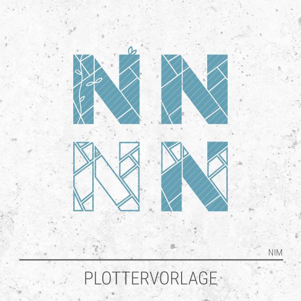 Plotterdatei / Plottervorlage Alphabet - Buchstabe N wie Nordpol