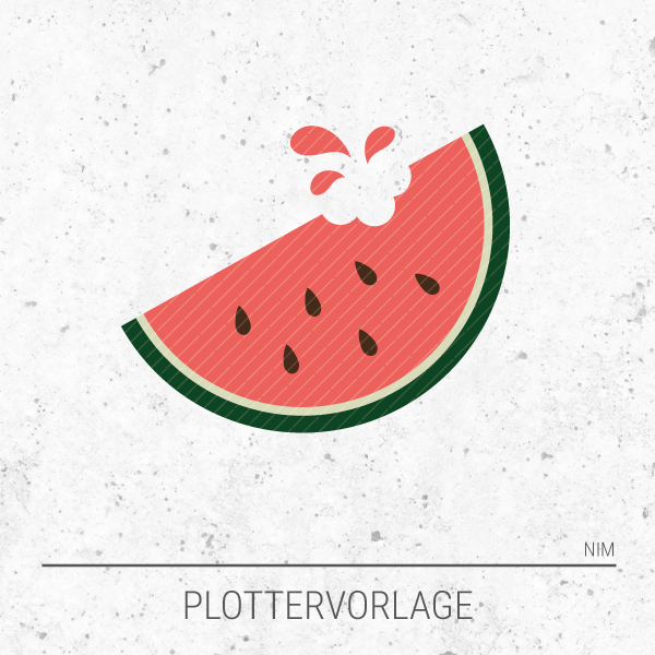 Plotterdatei / Plottervorlage Obst & Gemüse - Wassermelone
