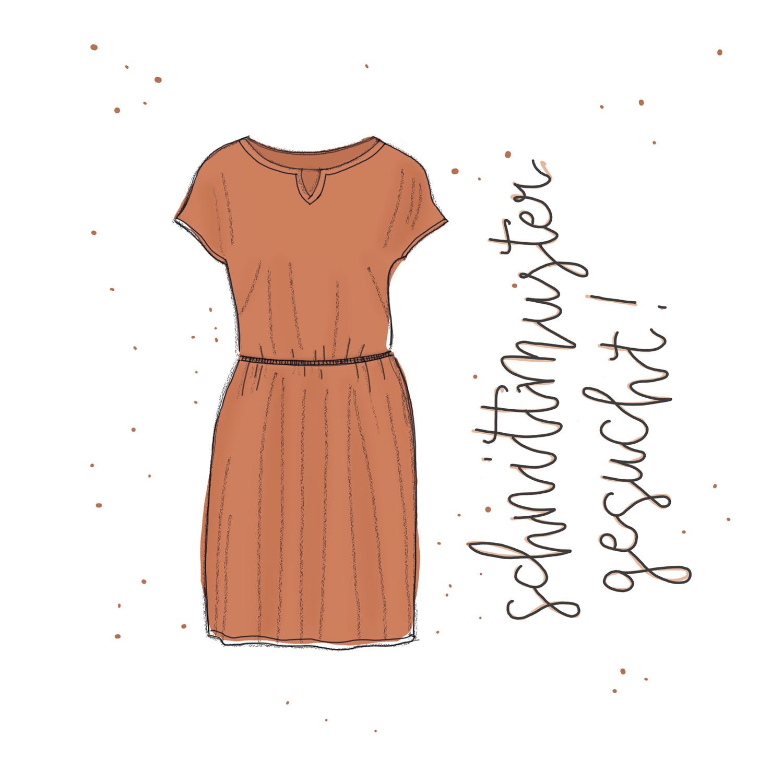 Sommerkleid nähen - Schnittmuster gesucht für ein Jersey-Kleid
