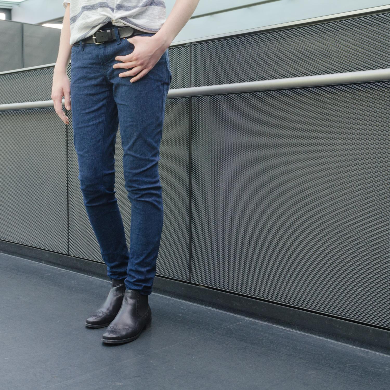 Jeans nähen, Schnittmuster Ginger Jeans von Closet Case Patterns, Hüfthose mit eng geschnittenem Bein